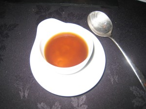 Parmesan Porridge, Mushroom Consommé