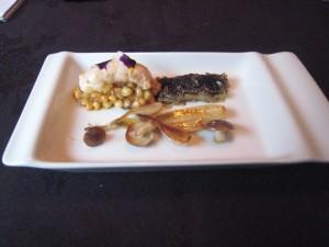 Bacchus - Langoustine, pine nuts, smoked aubergine, honshimeji mushrooms, spring onions