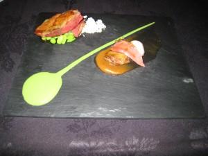 Bacchus - Slow Cooked Squab; mangosteen, edamame beans, rhubarb, garlic