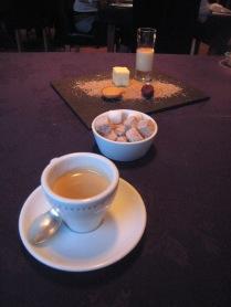 Bacchus - Crema Catalana, passion fruit sponge, financier, chocolate truffle, espresso