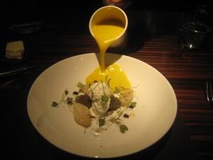 Butternut Squash & Sage Velouté, Balsamic Lentils, Crème Fraîche