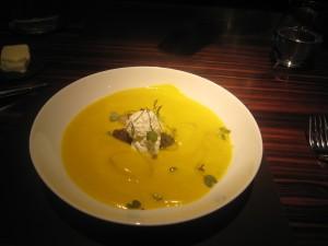 Butternut Squash & Sage Velouté, Balsamic Lentils, Crème Fraîche 2