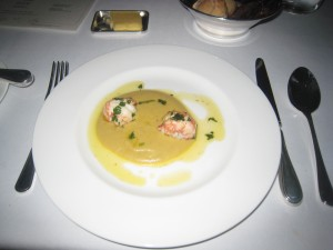 Langoustines, Spiced Chick Peas