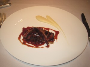 Roast Saddle of Lincolnshire Hare with a Tarte Fine of Celeriac and Pear