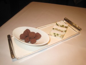 Petit Fours - Salted Caramel Truffles; and Nougat