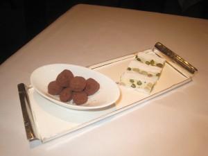 Petit Fours - Salted Caramel Truffles; and Nougat