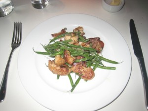Lambs' Tongues, Sweetbreads, Green Beans and Mint