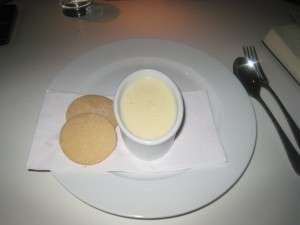 Buttermilk Pudding and Shortbread