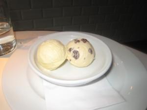 Vanilla; and Rum & Raisin Ice Cream