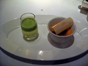 Pre-dessert - Crème brûlée and apple juice