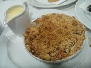 St. John - Pear Crumble & Custard