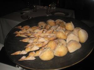 Les Pains - Hay Baguette; Sourdough; Black Olive Bread; and Hazelnut & Raisin