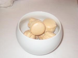 Macarons de chocolat ganache blanc
