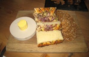 Bread & Butter - Red onion & rosemary focaccia; and soda bread