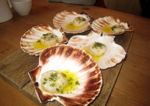 Scallop in seaweed butter