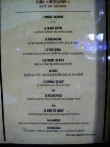 l'Atelier de Joël Robuchon - le menu « découverte