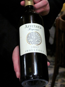 la Régalade - le Vin: 2007 Domaine Arretxea Irouléguy Hegoxuri