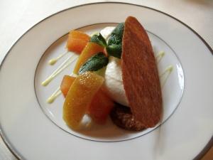 l'Ambroisie - Arlettes caramélisées fromage blanc, citron et pamplemousse confits