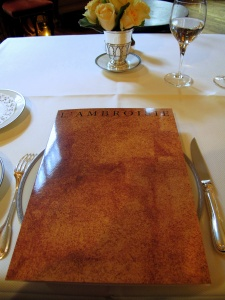 l'Ambroisie - la Carte