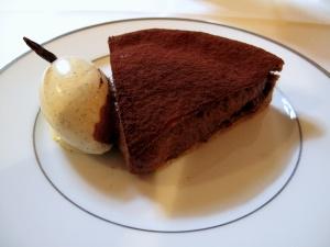 l'Ambroisie - Tarte fine sablée au cacao amer, glace à la vanille