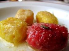 l'Arpège - Gnocchis multicolores; quaternaire au beurre noisette 2