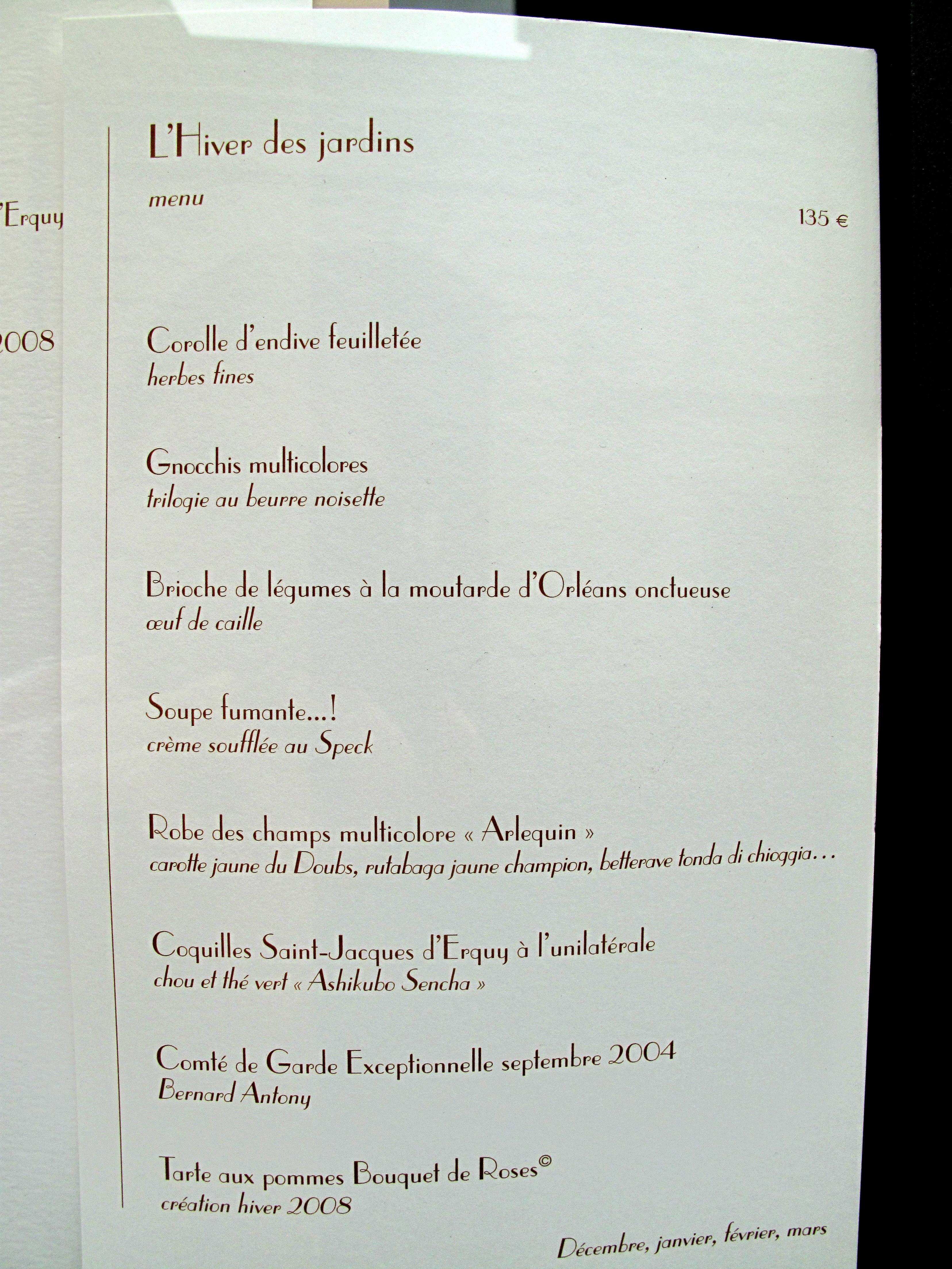Terracotta Restaurant Harden Menu