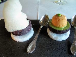 Ledoyen - Oursins de roche au goût:iodé/végétal