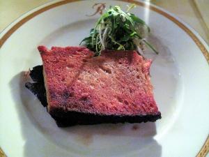 Michel Rostang - Le 'sandwich' tiède a la truffe fraîche; au pain de compagne grillé et beurre salé