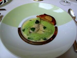 Stella Maris - Risotto d'huîtres, crème de cresson, toast de foie gras de canard