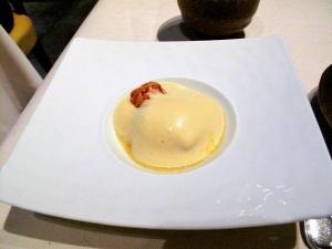 l'Astrance - Sabayon de mangue, clafoutis de mangue et pomme