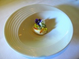Manresa - Amuse Bouche - Garden veloute with stone ground mustard