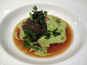 Manresa - Atlantic cod and alliums, bone marrow and vegetable tears 2