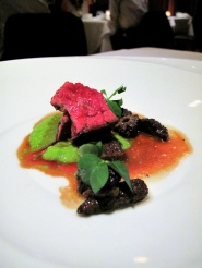 Manresa - Beef bavette roasted in its fat, morels 2