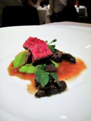 Manresa - Beef bavette roasted in its fat, morels 2