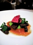 Manresa - Beef bavette roasted in its fat, morels 3
