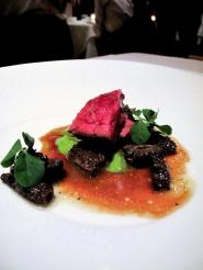 Manresa - Beef bavette roasted in its fat, morels 3