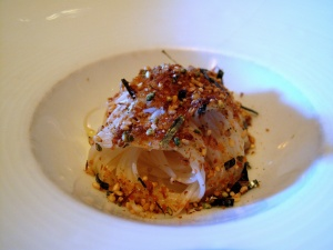 Manresa - Buckwheat noodles, bottarga and toasted seeds