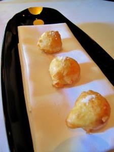 Manresa - Garden beignets, vinegar powder