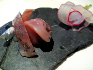 Manresa - Horse mackerel with ginger oil