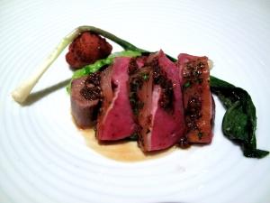 Manresa - Spring lamb, assorted spiced alliums, green garlic panisse