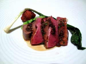 Manresa - Spring lamb, assorted spiced alliums, green garlic panisse