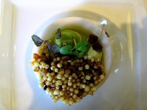 Oud Sluis - Amuse Bouche - Huître, vinaigrette au kaffir et yaourt Thaïlandaise