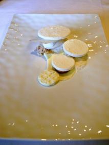 Oud Sluis - Blanc pur, riz, coco et cheese-cake, mangue épicée
