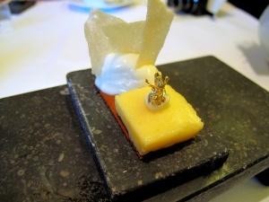 Oud Sluis -  Petit fours - Abricot et lait de soja