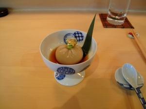 Urasawa - Goma tofu; Kyoto style