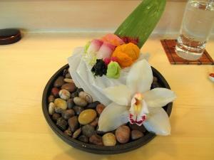Urasawa - Sashimi; kanpachi, toro, sea urchin