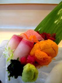 Urasawa - Sashimi; kanpachi, toro, sea urchin 2