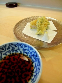Urasawa - Tempura; spring vegetables