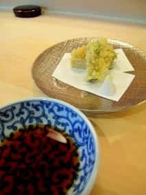 Urasawa - Tempura; spring vegetables