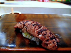Urasawa - Toro suji nigiri seconds